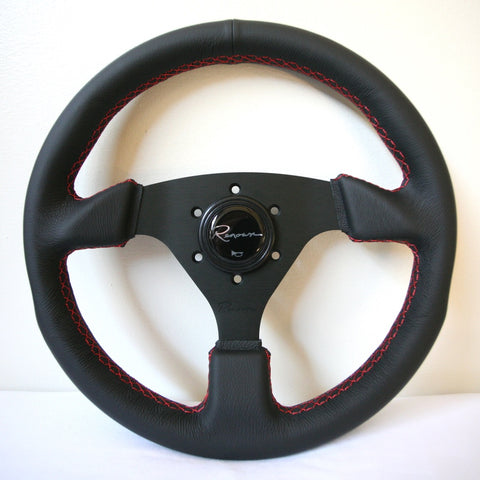 Renown Clubsport Rosso Steering Wheel - Red Stitching