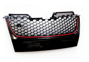 MK5 GTI / GLI Honeycomb Badgeless Grille (Red Stripe)