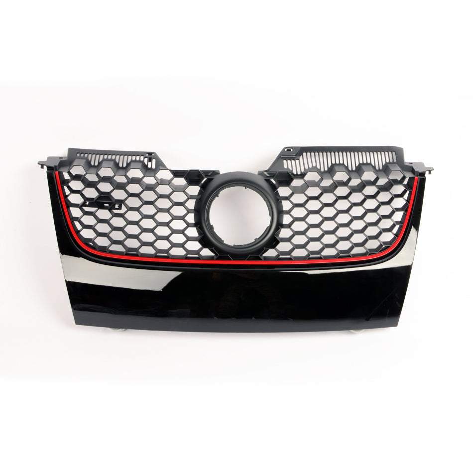 MK5 GTI / GLI Honeycomb Badged Grille (Red Stripe)