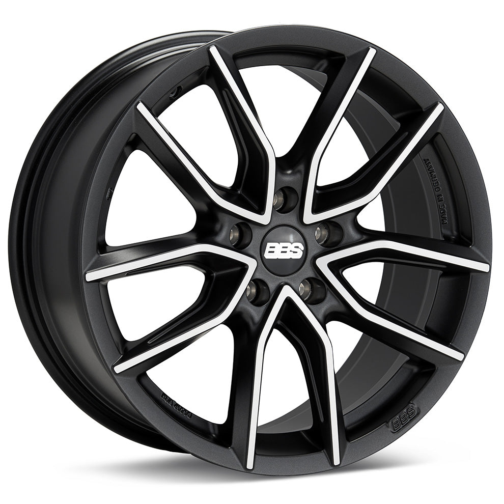 BBS XA 19x8.5 5x112 et46 Black/Machined
