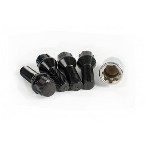 Wheel Lock Kit 14mm - Cone Seat (Black)