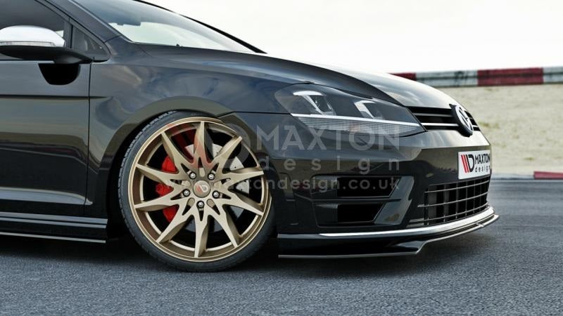 Maxton Design MK7 Golf R Front Bumper Splitter / Spoiler - Version 2