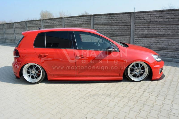 Maxton Design MK6 Golf R Racing Side Skirt Diffusers