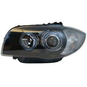 BMW E82 Angel Eye Projector Headlights (Black)