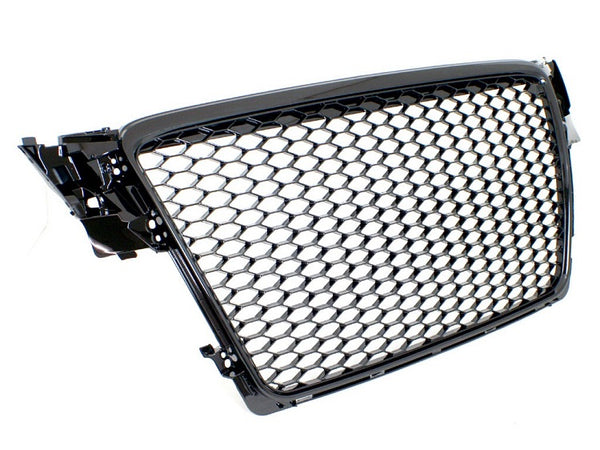 Audi B8 A4/S4 RS4-Replica Badgeless Grille (Gloss Black)