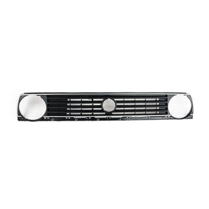 MK2 5-Slat Single-Round Badged Grille - Silver Stripe