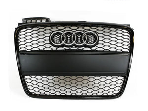 OEM B7 RS4 Grille - Black optic with Filler plate - S/S-Line Bumper ONLY