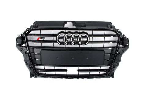 AUDI OEM Euro S3 Black Optik Grille - for Cars with Adaptive Cruise Control