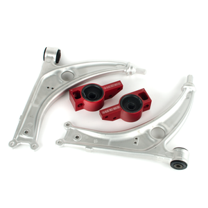 BFI MK5 / MK6 Caster+ Rear Control Arm Brackets, TTRS Bushings and Aluminum Lower Control Arms