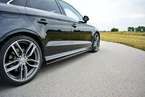 Maxton Design SIDE SKIRTS SPLITTERS AUDI S3 / A3 S-LINE 8V / 8V FL SEDAN