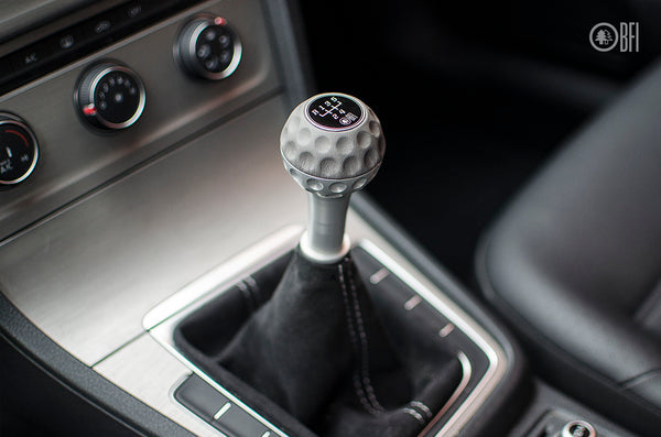BFI GSB Heavy Weight Shift Knob - Graphite Gray Nappa Leather