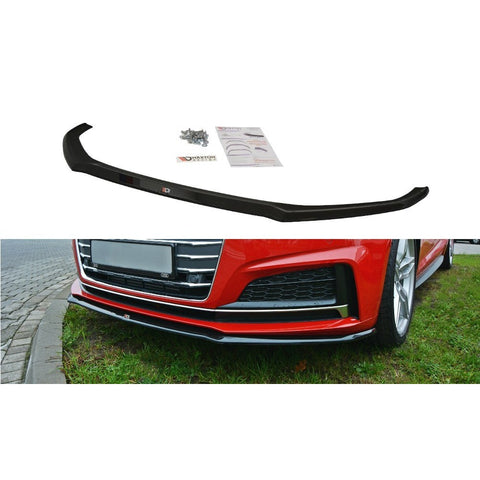 Maxton Design Front Splitter V.2 AUDI A4 B9 S-LINE (2017 - UP) Textured