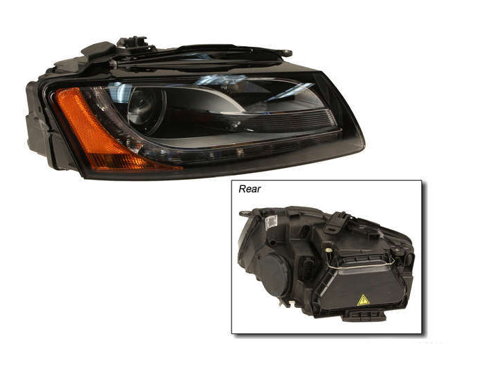 B8 A5 Passenger's Side Headlight- With Adaptive