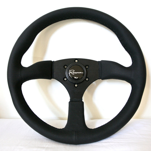 Renown 130R Steering Wheel - Black Stitching