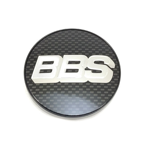 Genuine BBS RA / VZ / 5x100 RX-II / 5x100 CH / 5x100 CK Logo Cap Set (Carbon/Silver)
