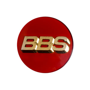 Genuine BBS RS / RM / RF 3D-Text Logo Cap Set (Red/Gold)