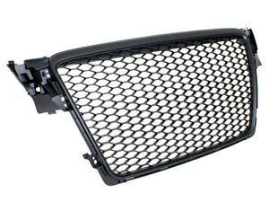 Audi B8 A4/S4 RS4-Replica Badgeless Grille (Matte Black)