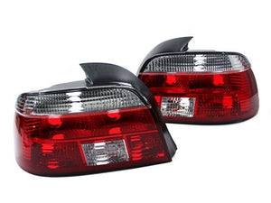 BMW 1997-2000 E39 Euro Taillights (Crystal Clear / Red)