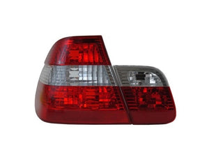 BMW E46 Taillights - Red/Clear/Red (4-Door, 2002-2005)