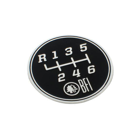 6-Speed Gate Pattern Coin for Heavy Weight Shift Knobs