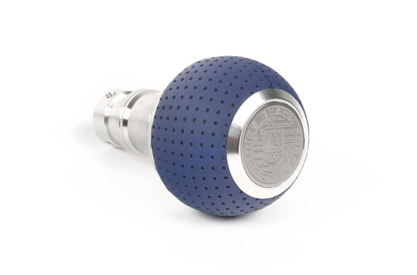 BFI GS2 Heavy Weight Shift Knob - Porsche Maritime Blue Leather (BMW Fitment)