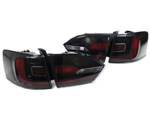 MK6 Jetta Black Frame Taillights with Rear Fog