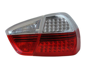 E90 2006-2008 Taillights - LED Turns (Clear / Red)