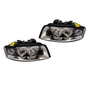Audi B6 A4 Headlights w/ HID (Chrome)