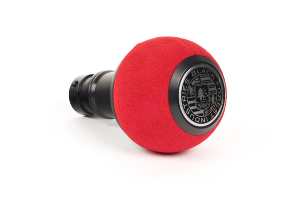 BFI GS2 DSG/Auto Heavy Weight Shift Knob - Red Alcantara - Black Anodized (VW/Audi Fitment)