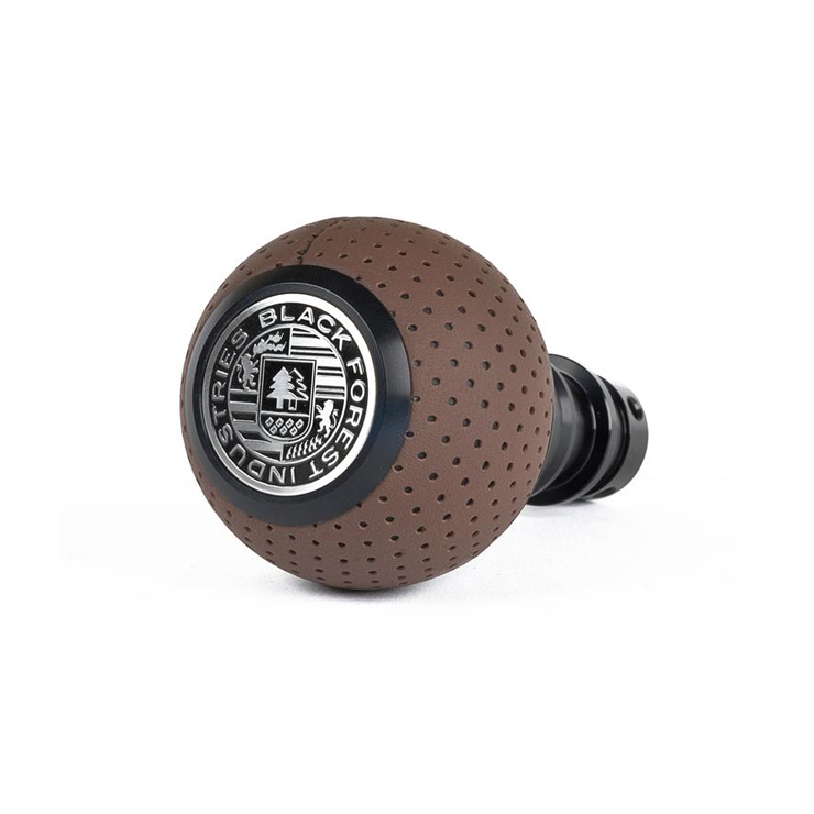 BFI Heavy Weight Shift Knob - Nougat Brown Perforated Leather (BMW Fitment)