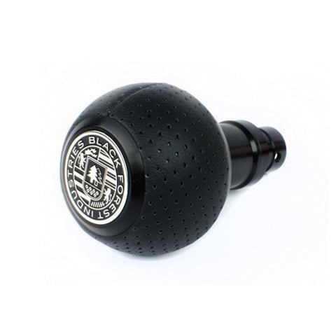 BFI GS2 Heavy Weight Shift Knob - Black Air Leather - Black Anodized (981 / 991+ Porsche Fitment)