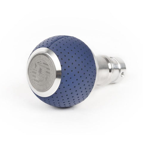 BFI GS2 Heavy Weight Shift Knob - Maritime Blue Air Leather (VW/Audi Fitment)