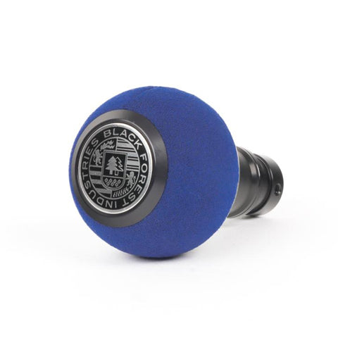 BFI GS2 Heavy Weight Shift Knob - Blue Alcantara - Black Anodized (VW/Audi Fitment)