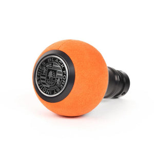 BFI GS2 Heavy Weight Shift Knob - Orange Alcantara - Black Anodized (BMW Fitment)