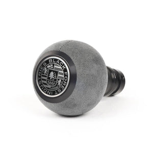 BFI GS2 Heavy Weight Shift Knob - Gray Alcantara - Black Anodized (VW/Audi Fitment)