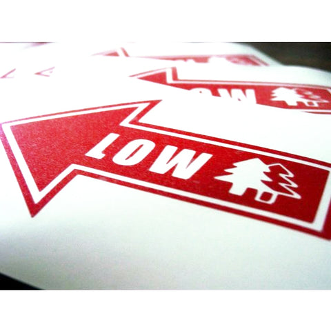 "BFI ""LOW"" Arrow Decal"