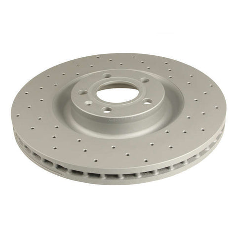 B6 S4 Front Rotors Cross Drilled (PAIR)