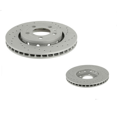 MK4 R32 / TT Rear Disc Zimmerman X-Drilled - Pair