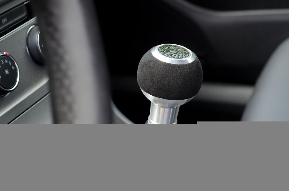 BFI Heavy Weight Shift Knob - Red Alcantara (VW/Audi Fitment)