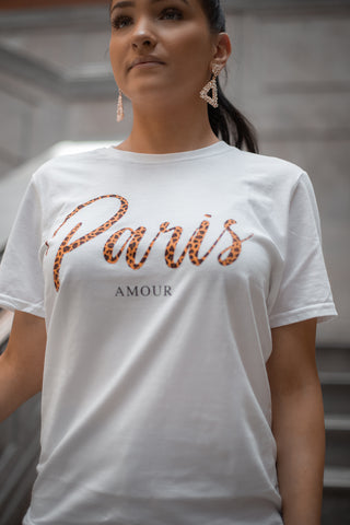 "Tee -Shirt ""Amour Paris "" - Boutique by JessyJess"