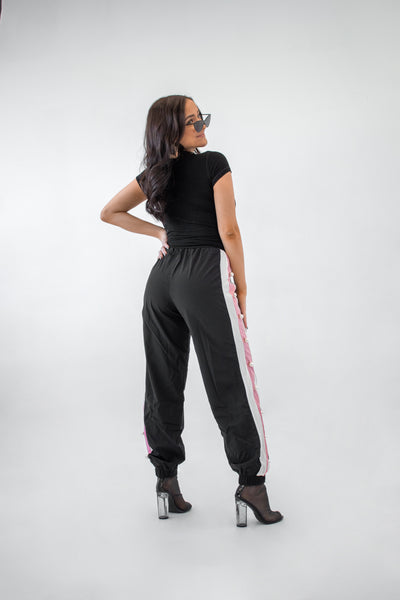 Pearls Black Jogger - Boutique by JessyJess