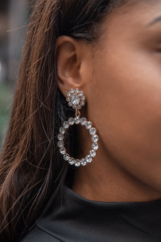 Crystal Round Pearl Earrings - Boutique by JessyJess