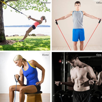 120CM YOGA PULL ROPE ELASTIC RESISTANCE BANDS TUBES PRACTICAL TRAINING RUBBER Resistance Bands SeekNfind Official Store