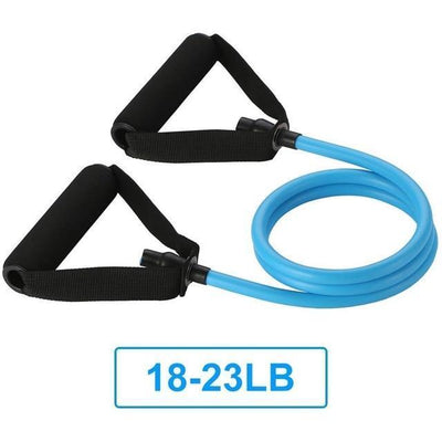 120CM YOGA PULL ROPE ELASTIC RESISTANCE BANDS TUBES PRACTICAL TRAINING RUBBER Resistance Bands SeekNfind Official Store Blue