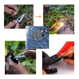 18 in 1 Card Camping Outdoor Multifunctional Survival Tool Penguin Delivery
