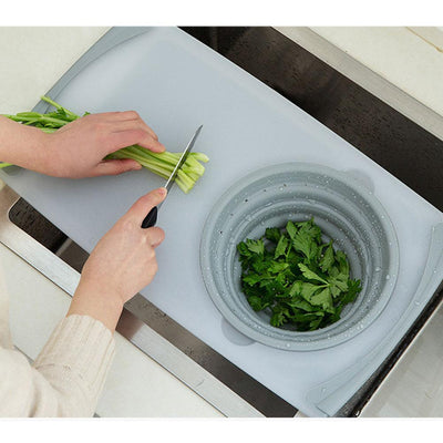 3 IN 1 Multi-function Sink Drain Basket Chopping Board Chopping Blocks Creativity Kitchen Store