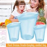 3PCS Reusable Zip Top Food Storage Containers Saran Wrap & Plastic Bags Shop4887046 Store