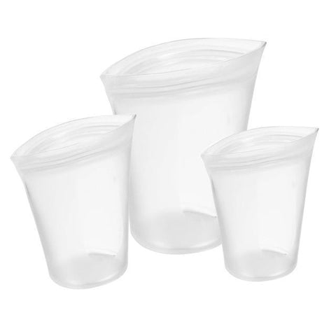 3PCS Reusable Zip Top Food Storage Containers Saran Wrap & Plastic Bags Shop4887046 Store white