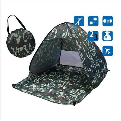 Beach Buff™️ Foldable Tent Tents Fitness Park Store Army green