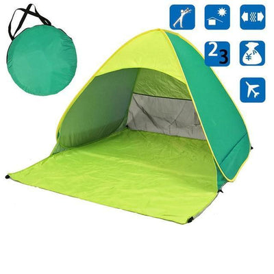 Beach Buff™️ Foldable Tent Tents Fitness Park Store Light green